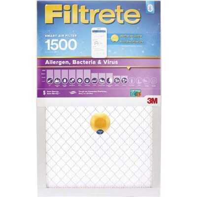 3M Filtrete 16 In. x 25 In. x 1 In. 1500 MPR Allergen, Bacteria & Virus Smart Furnace Filter
