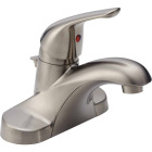 Delta Foundations Stainless 1-Handle Lever 4 In. Centerset Bathroom Faucet with Pop-Up Image 1