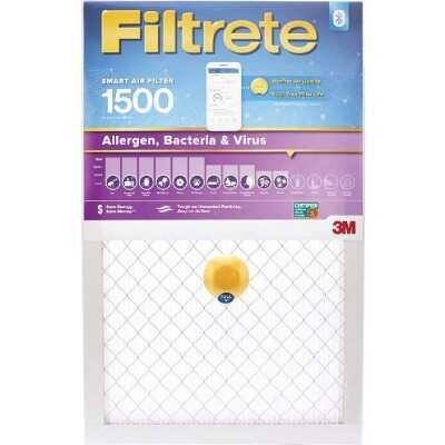 3M Filtrete 20 In. x 25 In. x 1 In. 1500 MPR Allergen, Bacteria & Virus Smart Furnace Filter