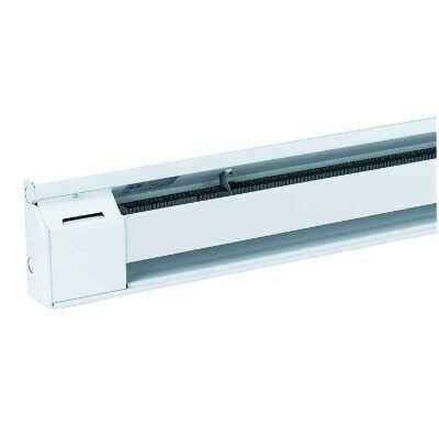 Fahrenheat 48 In. 1000-Watt 240-Volt Electric Baseboard Heater, Northern White