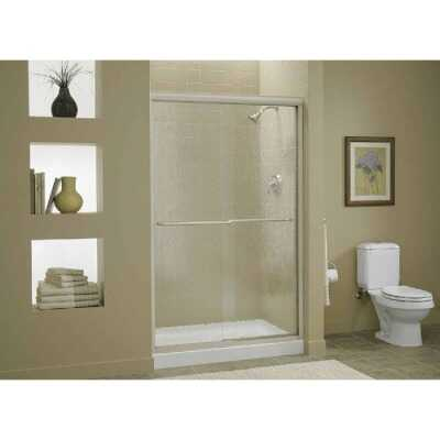 Sterling Finesse 47-5/8 In. W. X 70-5/16 In. H. Chrome Frameless Clear Sliding Shower Door