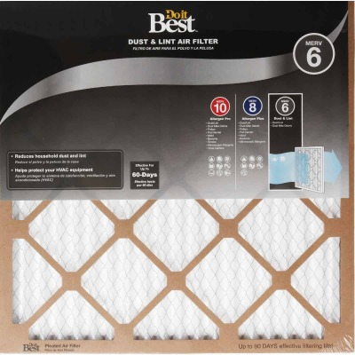 Do it Best 18 In. x 18 In. x 1 In. Dust & Lint MERV 6 Furnace Filter
