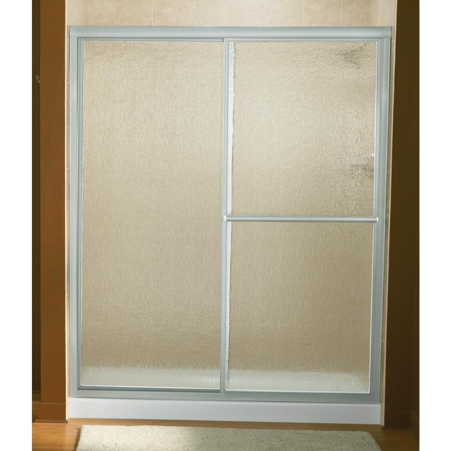 Sterling Deluxe 59-3/8 In. W. X 70 In H. Chrome Rain Glass Sliding Shower Door Image 1