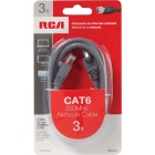 RCA 3 Ft. CAT-6 Gray Network Cable Image 2