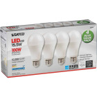 Satco 100W Equivalent Natural Light A19 Medium LED Light Bulb (4-Pack) Image 4