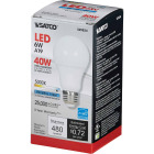 Satco 40W Equivalent Natural Light A19 Medium Dimmable LED Light Bulb Image 3