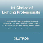 Lutron Lumea Incandescent/Halogen/LED/CFL White Slide Dimmer Switch Image 5