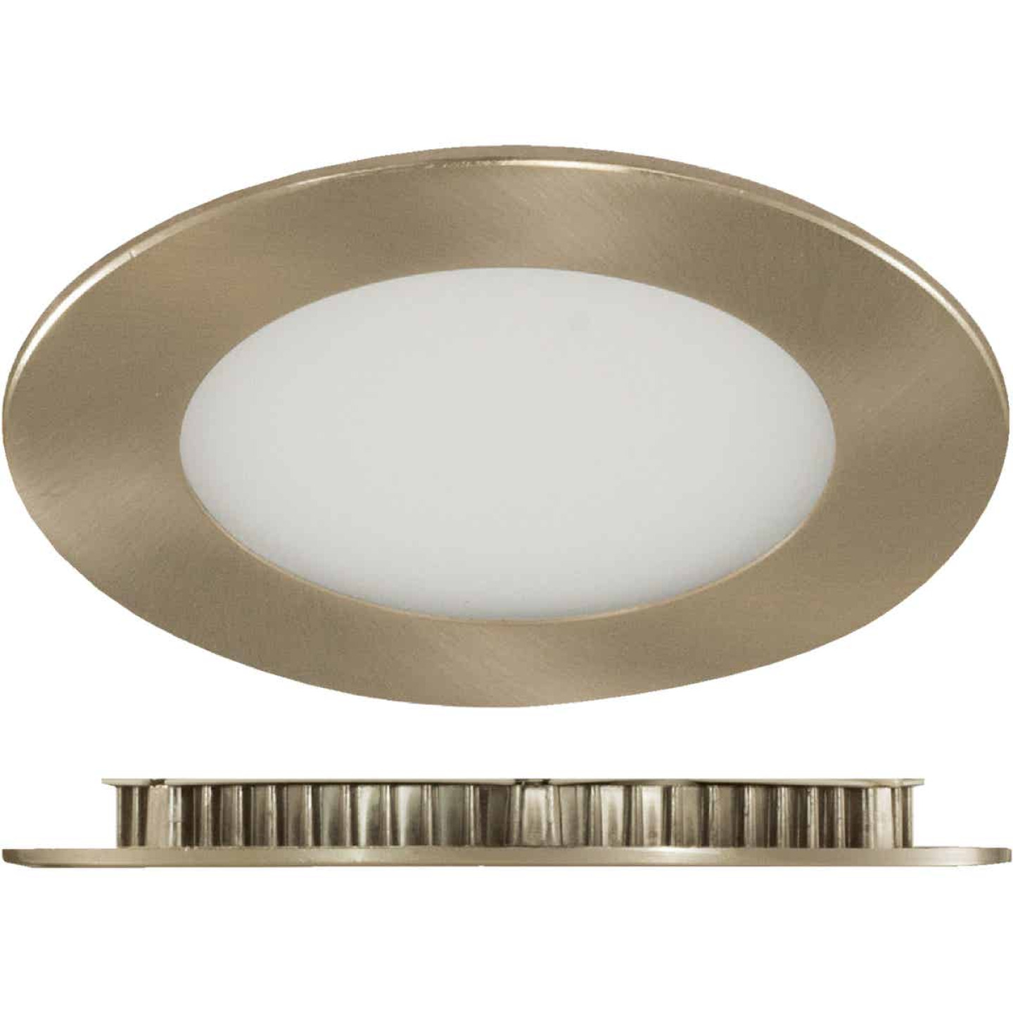 Liteline Trenz ThinLED 4 In. New Construction/Remodel IC Rated White 575 Lm. 3000K Recessed Light Kit Image 1