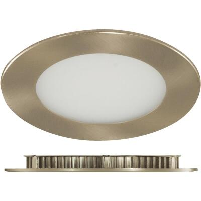 Liteline Trenz ThinLED 4 In. New Construction/Remodel IC Rated Brushed Nickel 650 Lm. 4000K Recessed Light Kit