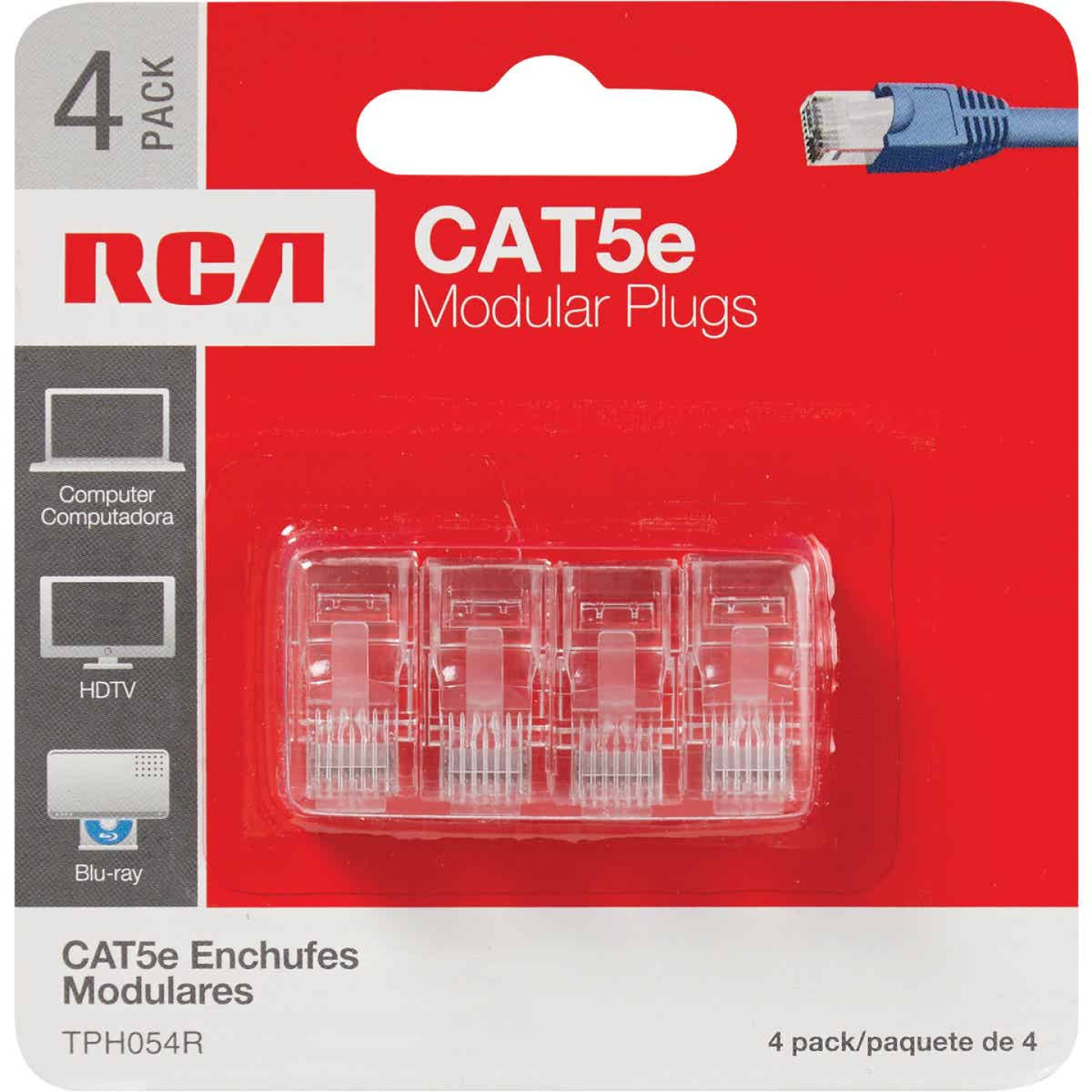 RCA CAT-5E Clear Modular Plug Connector (4-Pack) Image 2
