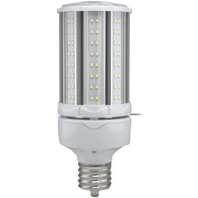 Satco Hi-Pro 45W Clear Corn Cob Mogul Extended Base LED High-Intensity Light Bulb