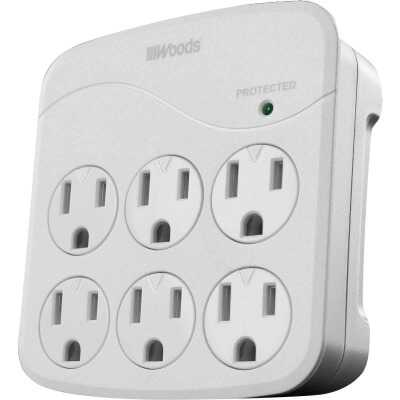 Woods 6-Outlet 15A Gray Surge Tap