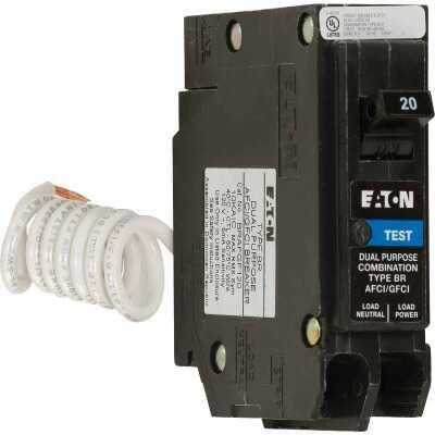 Eaton BR 20A Single-Pole Short Body AFCI/GFCI Breaker