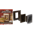 TayMac Bronze Vertical/Horizontal Non-Metallic Recessed Outdoor Outlet Kit Image 1