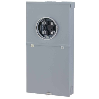 GE PowerMark Gold 200A 4-Space 8-Circuit Outdoor Meter Socket Load Center