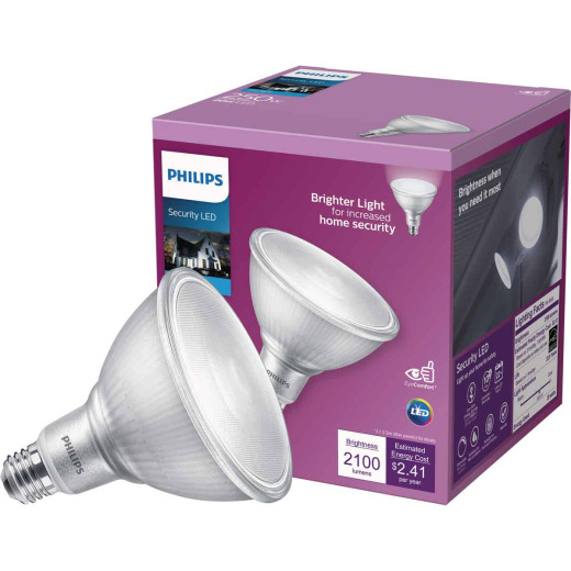 Philips 250W Equivalent Daylight PAR38 Medium Indoor/Outdoor LED Floodlight Light Bulb