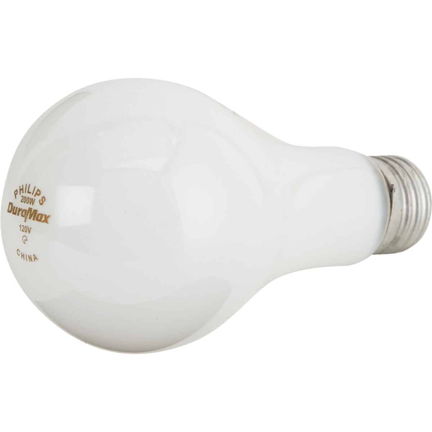 Philips DuraMax 200W Frosted Soft White Medium A21 Incandescent Light Bulb Image 3