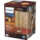 Philips 40W Equivalent Amber G63 Medium Dimmable LED Decorative Light Bulb Image 1