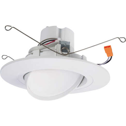 HALO 5 In./6 In. Retrofit IC Rated White LED Selectable Color Temperature Recessed Light Kit