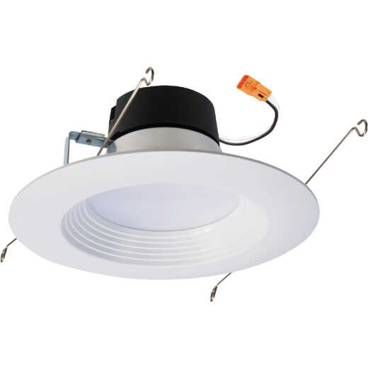 Halo 5 in./6 in. Retrofit IC Rated White LED Recessed Light Fixture (6-Pack)