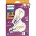 Philips Warm Glow 60W Equivalent Soft White A19 Medium Dimmable LED Light Bulb (2-Pack) Image 1