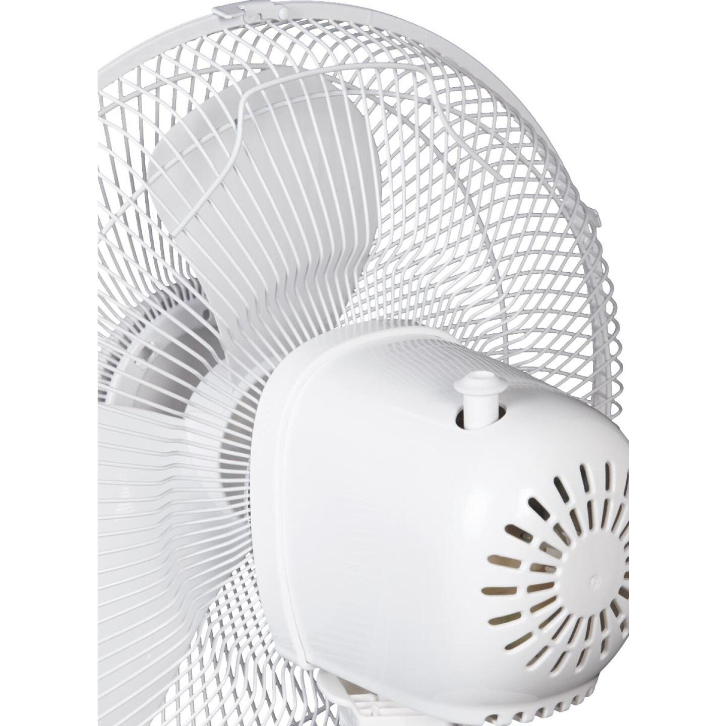 Best Comfort 12 In. 3-Speed White Oscillating Table Fan Image 5