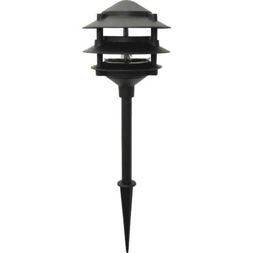 Moonrays Incandescent Black 3-Tier Landscape Stake Light