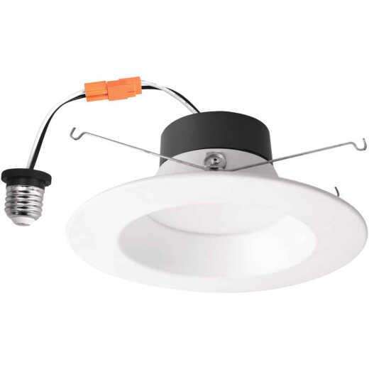 5 In./6 In. Retrofit IC Rated White LED CCT Tunable Down Light with Smooth Trim
