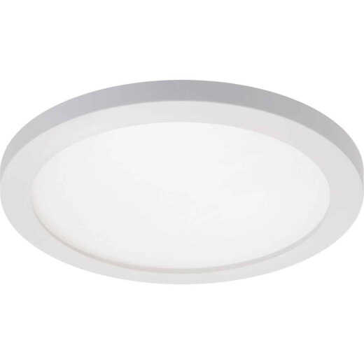 Halo 5 In./6 In. Round Retrofit IC/Non-IC Rated White Flush Mount LED Recessed Light Kit, California Rated
