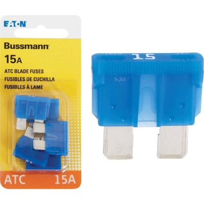 Bussmann 15-Amp 32-Volt ATC Blade Automotive Fuse (4-Pack)
