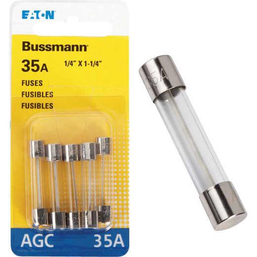 Bussmann 36-Amp 32-Volt AGC Glass Tube Automotive Fuse (5-Pack)