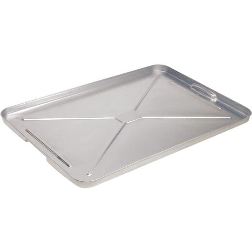 "Plews Lubrimatic 16"" x 25"" Galvanized Metal Auto Drip Pan"