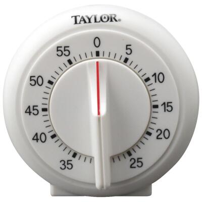 Taylor 60-Minute White Long Ring Timer