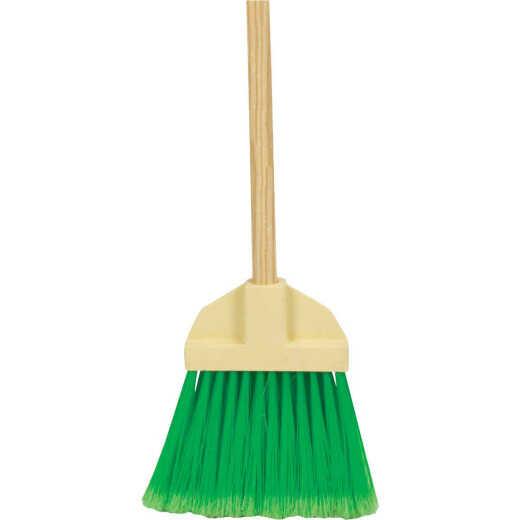 Bruske 9 In. W. x 37 In. L. Wood Handle Flared Lobby Household Broom, Green Bristles