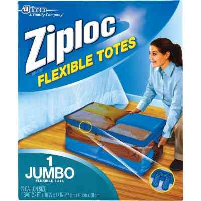 Ziploc Flexible XXL Jumbo 22 Gallon Clothes Storage Bag Tote