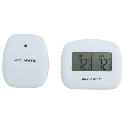 "Acurite 2-1/2"" Receiver, 2-1/2"" Sensor  Wireless Indoor & Outdoor Thermometer"