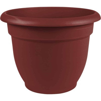 Bloem Ariana 6.5 In. H. x 6 In. Dia. Plastic Self Watering Burnt Red Planter