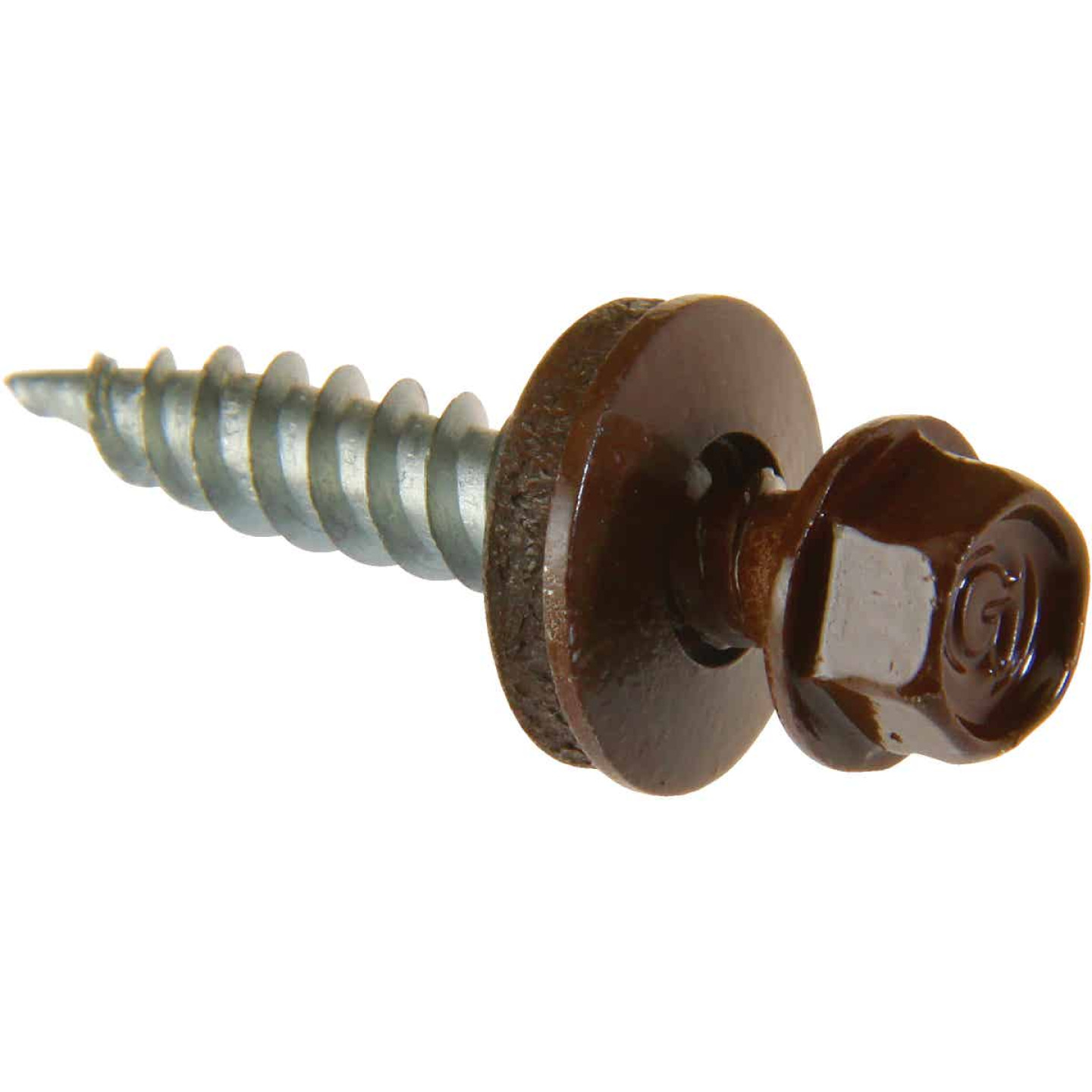Do it #9 x 1 In. Hex Washered Brown Framing Screw (250 Ct.) Image 1