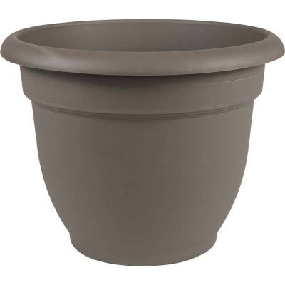 Bloem Ariana 10 In. Plastic Self Watering Charcoal Planter