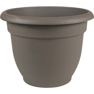Bloem Ariana 12 In. Plastic Self Watering Charcoal Planter
