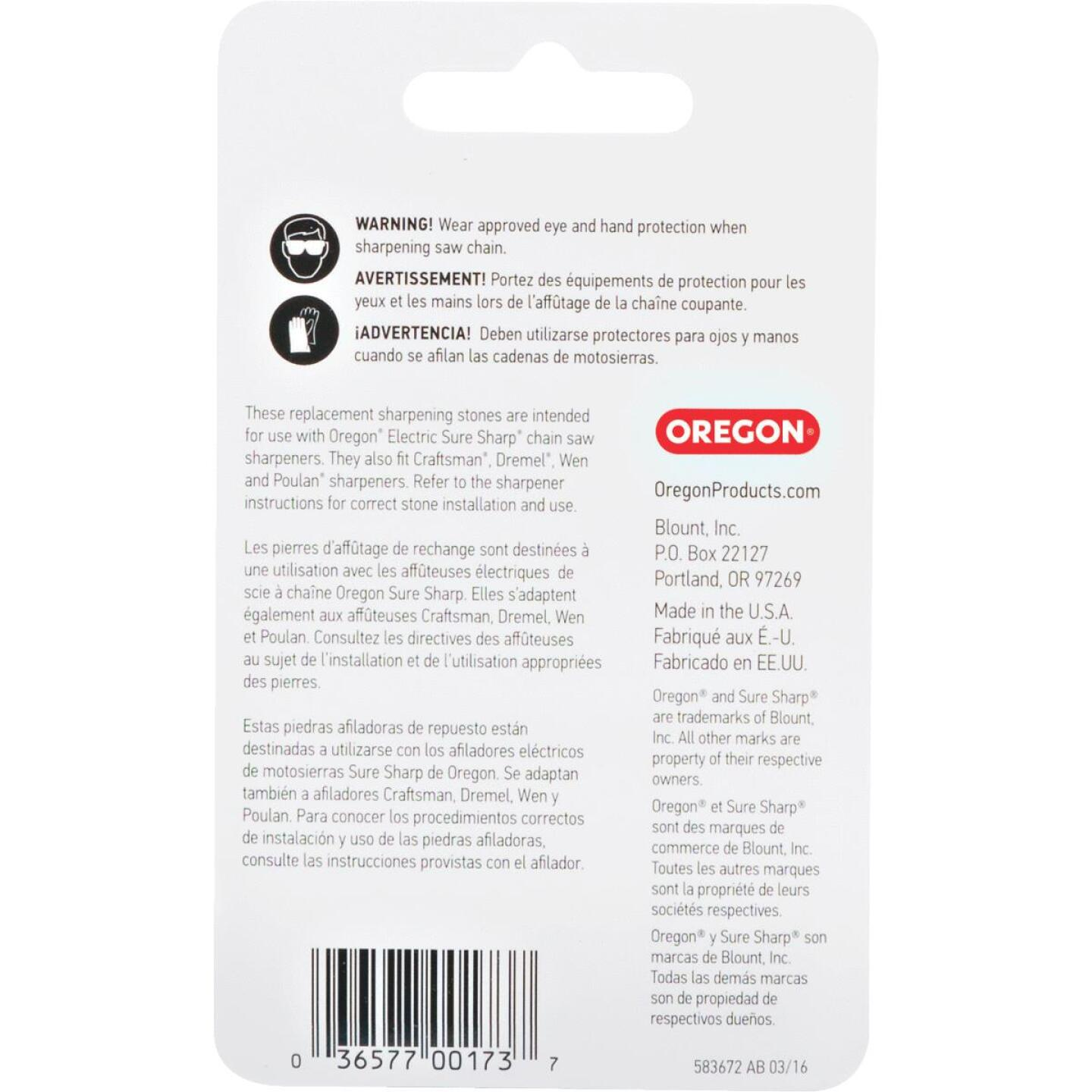 Oregon 7/32 In. Replacement Grinding Stones (3 Count) Image 3