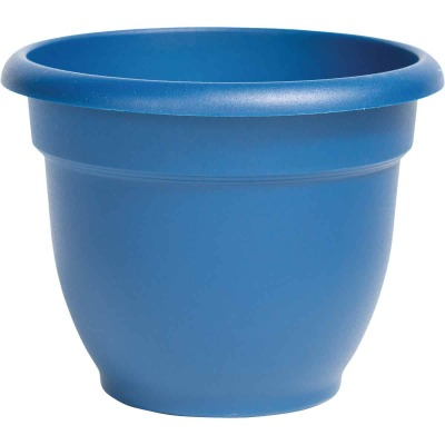 Bloem Ariana 6.5 In. H. x 6 In. Dia. Plastic Self Watering Classic Blue Planter