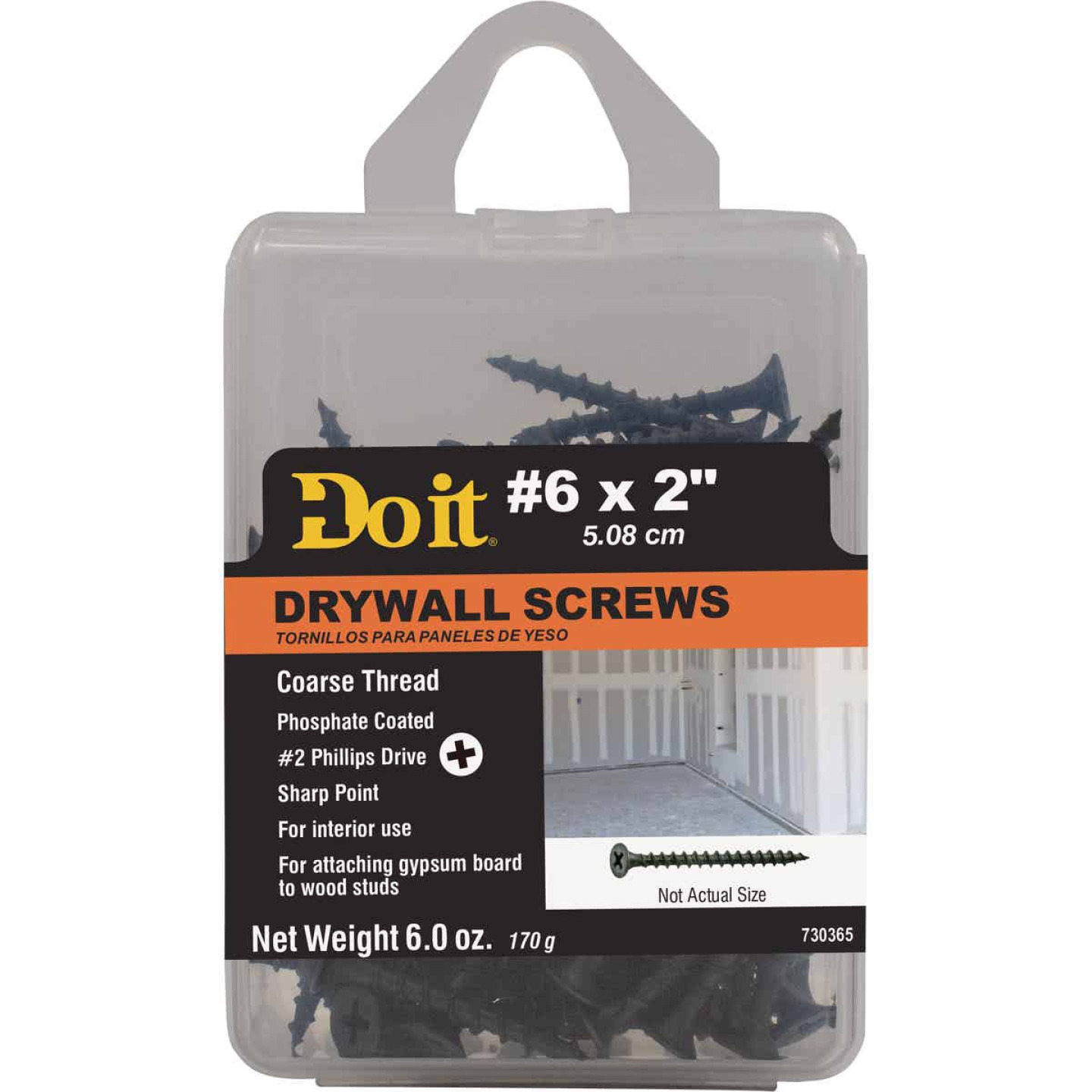 Do it #6 x 2 In. Coarse Thread Phosphate Drywall Screw Image 1