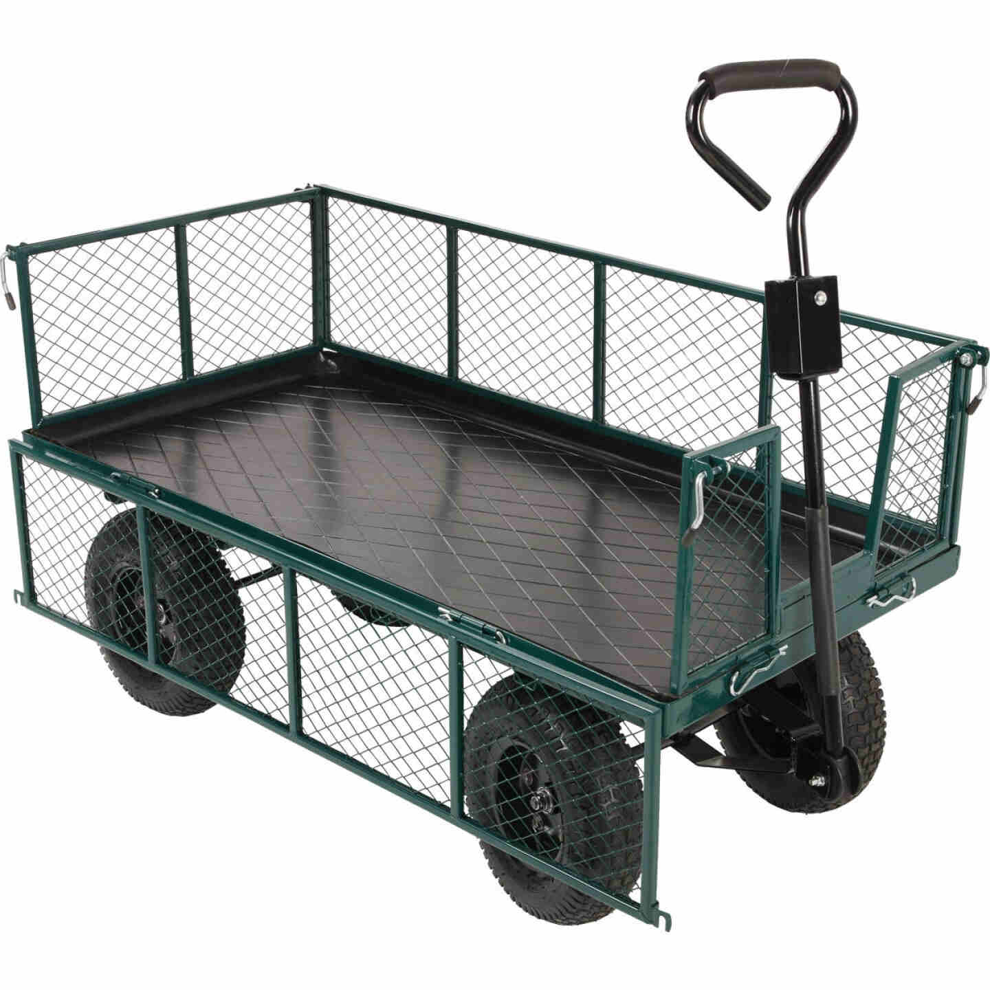 Best Garden 1000 Lb. Steel Garden Cart with Collapsible Sides Image 5