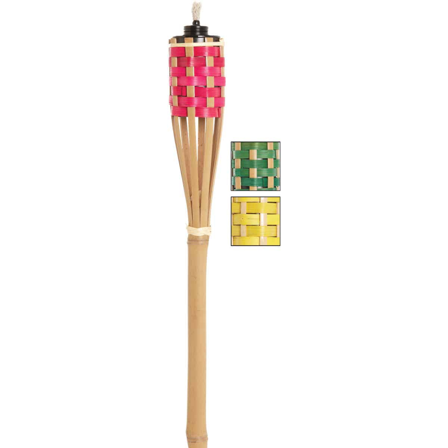 Outdoor Expressions 4 Ft. Assorted Color Bamboo Party Patio Torch Image 1