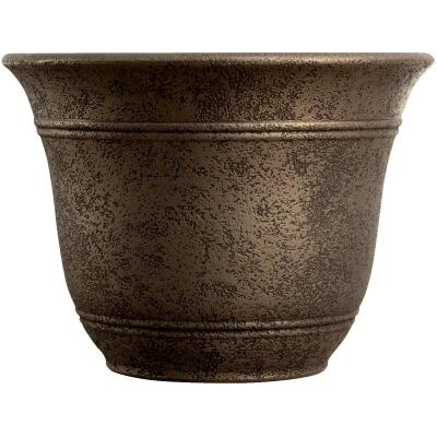 Listo Sierra 11-3/4 In. H. x 16 In. Dia. Nordic Bronze Poly Flower Pot