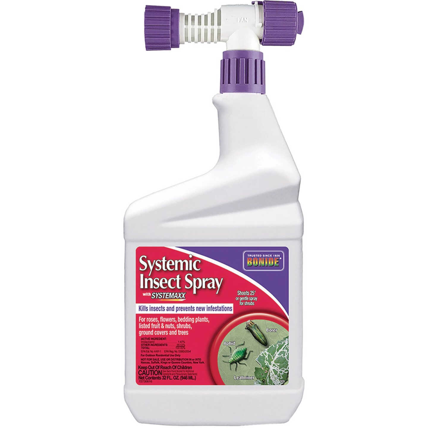 Bonide 32 Oz. Ready To Spray Hose End Systemic Insect Killer Image 1