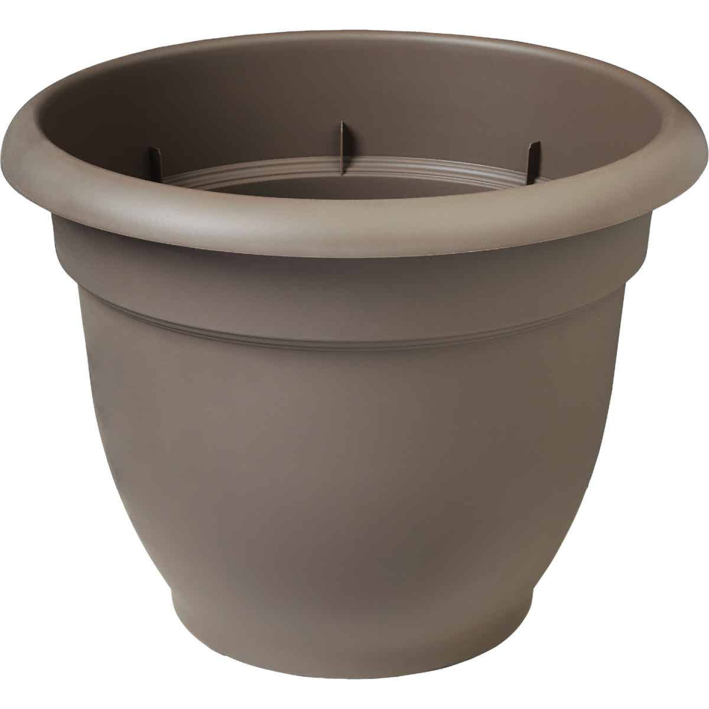 Bloem Ariana 13.75 In. H. x 16 In. Dia. Plastic Self Watering Charcoal Planter Image 1