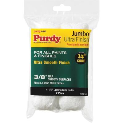 Purdy Ultra Finish 4-1/2 In. x 3/8 In. Jumbo Mini Microfiber Roller Cover (2-Pack)