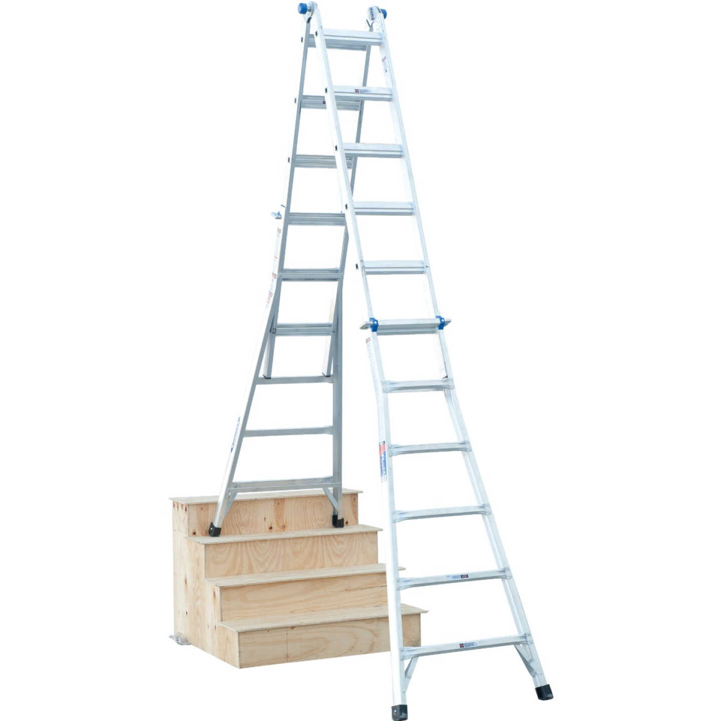 Werner 26 Ft. Aluminum Multi-Position Telescoping Ladder with 300 Lb. Load Capacity Type IA Ladder Rating Image 8